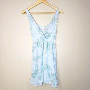 🦋3/20 Flora Nikrooz Blue Print Sheer Lingerie Top